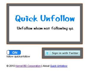 Quick Unfollow