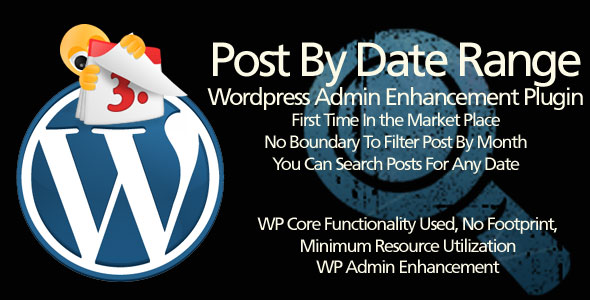 Posts By Date Range - WordPress plugin for admin