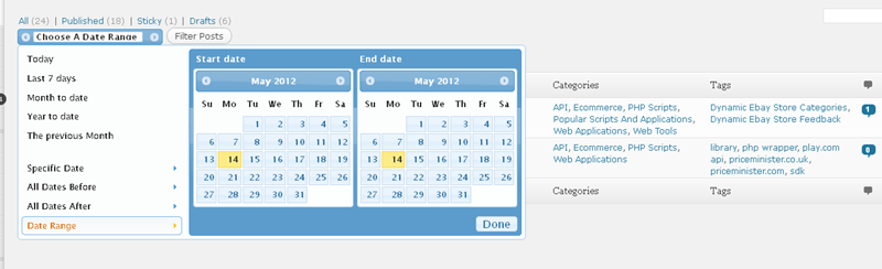 mint how to search a date range